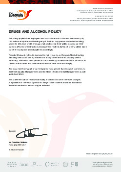 DRUGS AND ALCOHOL POLICY