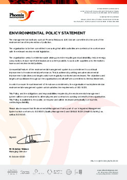 ENVIRONMENT STATEMENT POLICY