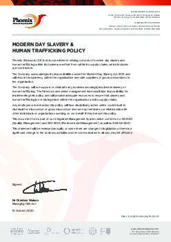 MODERN DAY SLAVERY & HUMAN TRAFFICKING POLICY