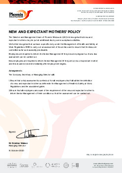 NEW EXPECTANT MOTHERS' POLICY
